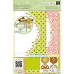 K and Company - Beyond Postmarks Collection - Die Cut Cards and Envelopes - Letterpress