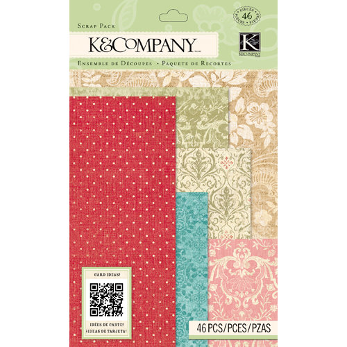 K and Company - Beyond Postmarks Collection - Scrap Pack - Floral