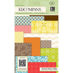 K and Company - Beyond Postmarks Collection - Scrap Pack - Letterpress