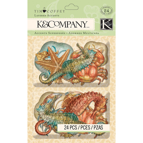 K and Company - Travel Collection - Layered Accents - Sea