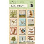 K and Company - Travel Collection - Clearly Yours - Epoxy Stickers
