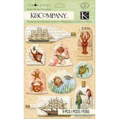 K and Company - Travel Collection - 3 Dimensional Stickers - Snow Globe