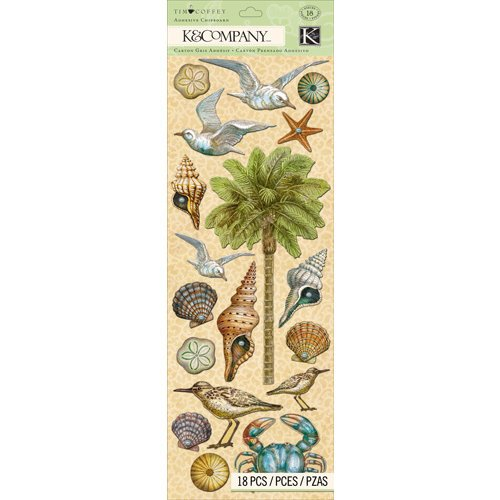 K and Company - Travel Collection - Adhesive Chipboard - Icon