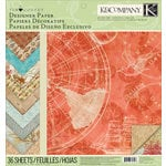 K and Company - Travel Collection - 12 x 12 Designer Paper Pad