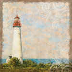 K and Company - Travel Collection - 12 x 12 Textured Paper - Lighthouse