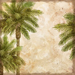 K and Company - Travel Collection - 12 x 12 Paper - Palms