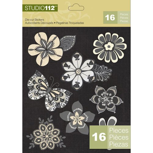 K and Company - Studio 112 Collection - Die Cut Stickers - Flower