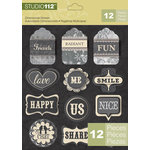 K and Company - Studio 112 Collection - 3 Dimensional Stickers - Word