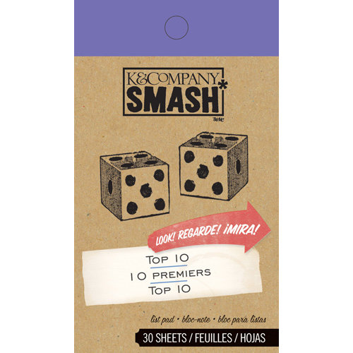 K and Company - SMASH Collection - Journaling Tag Pad - Top 10