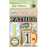 K and Company - Grand Adhesions with Glitter and Varnish Accents - Father's Day