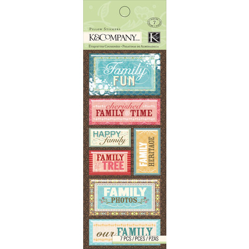 K and Company - Pillow Stickers - Family Members