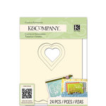 K and Company - Beyond Postmarks Collection - Die Cut Cards and Envelopes - Assorted Ivory and White