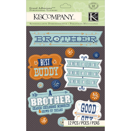 K and Company - Grand Adhesions with Gem and Glitter Accents - Brother