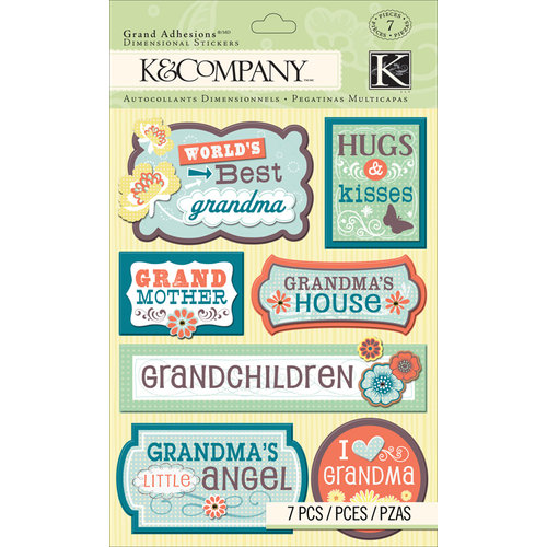 K and Company - Grand Adhesions with Gem and Glitter Accents - Grandma