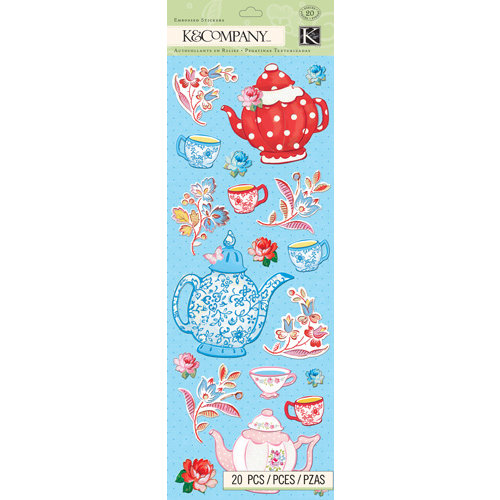 K and Company - Bloomscape Collection - Embossed Stickers