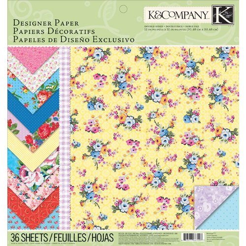 K and Company - Bloomscape Collection - 12 x 12 Designer Paper Pad