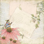 K and Company - Floral Collection - 12 x 12 Paper - Sheet Music