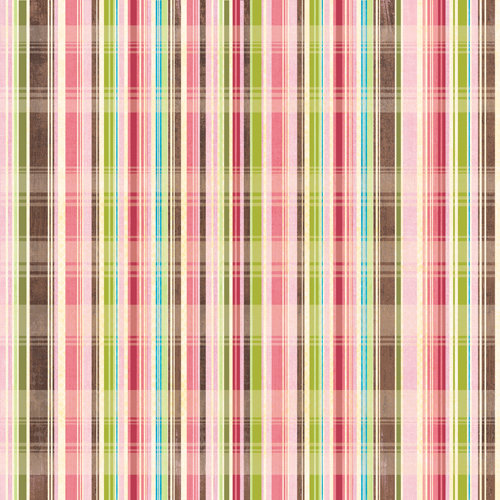 K and Company - Blossom Collection - 12 x 12 Paper - Plaid