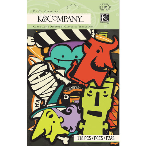 K and Company - Spooky Collection - Halloween - Die Cut Cardstock Pieces