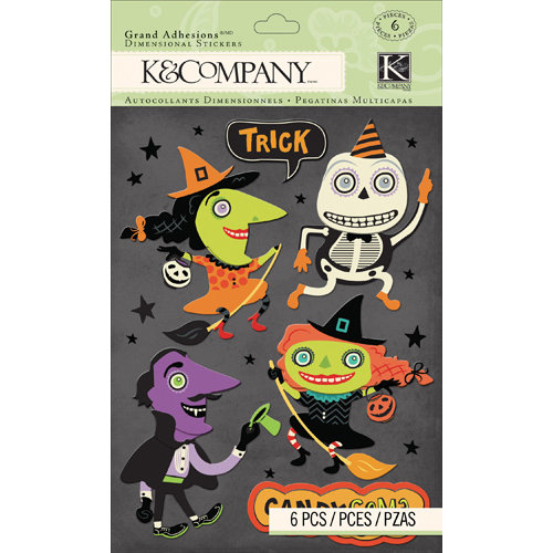 K and Company - Spooky Collection - Halloween - 3 Dimensional Grand Adhesions