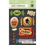 K and Company - Spooky Collection - Halloween - 3 Dimensional Stickers - Snow Globe