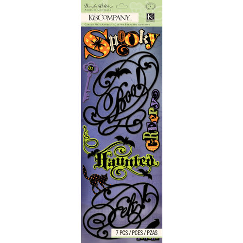 K and Company - Haunted Collection - Halloween - Adhesive Chipboard - Words