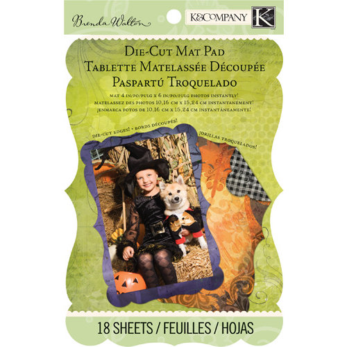 K and Company - Haunted Collection - Halloween - Die Cut Mat Paper Pad
