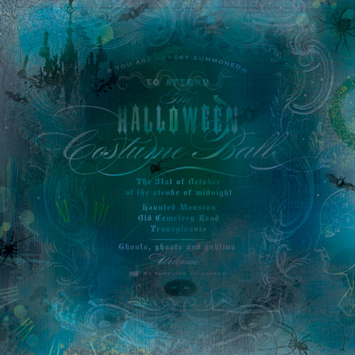K and Company - Haunted Collection - Halloween - 12 x 12 Paper with Shimmer Accents - Costume Ball