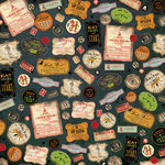 K and Company - Haunted Collection - Halloween - 12 x 12 Paper - Labels