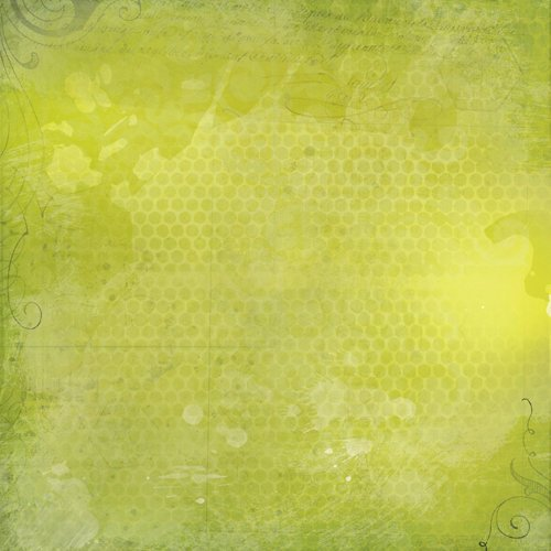 K and Company - Haunted Collection - Halloween - 12 x 12 Paper - Green Texture