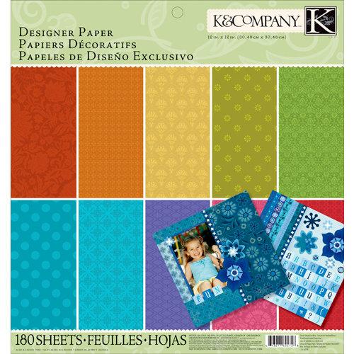 K and Company - 12 x 12 Designer Paper Pad - Essentials Dark