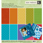 K and Company - 12 x 12 Designer Paper Pad - Essentials Dark