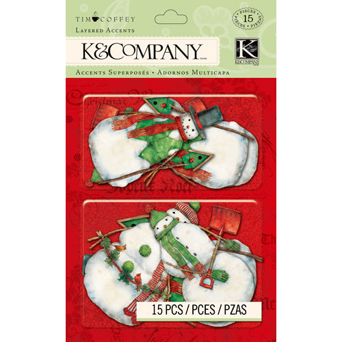K and Company - Christmas 2012 Collection by Tim Coffey - Layered Accents with Glitter Accents - Icon