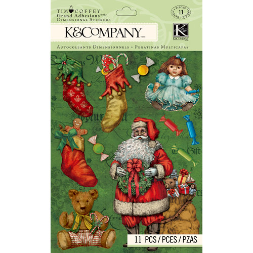 K and Company - Christmas 2012 Collection by Tim Coffey - Grand Adhesions - Santa