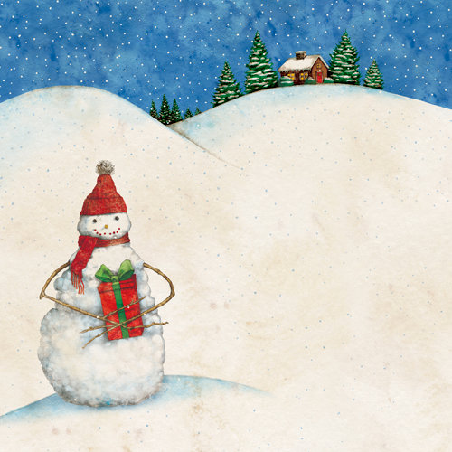 K and Company - Christmas 2012 Collection by Tim Coffey - 12 x 12 Paper - Snowman