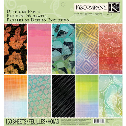 K and Company - 12 x 12 Designer Paper Pad - Doodles