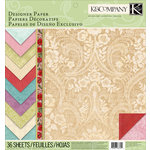 K and Company - Beyond Postmarks Collection - 12 x 12 Designer Paper Pad - Floral