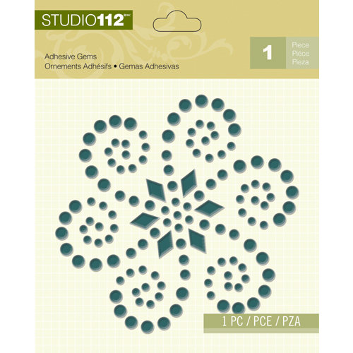 K and Company - Studio 112 Collection - Adhesive Gems - Blue Shape