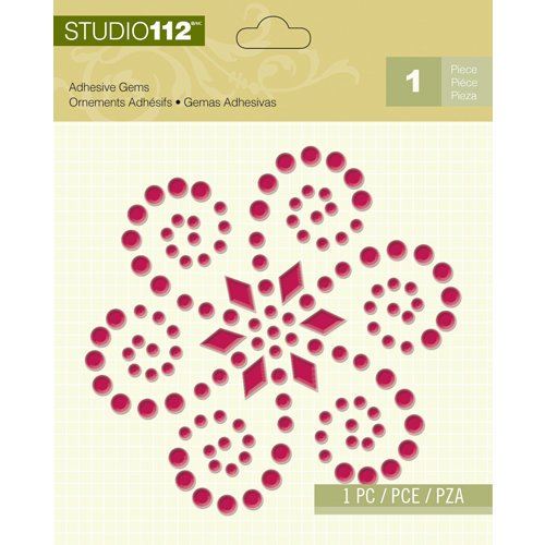 K and Company - Studio 112 Collection - Adhesive Gems - Magenta Shape