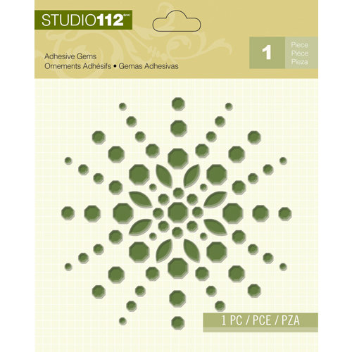 K and Company - Studio 112 Collection - Adhesive Gems - Green Shape