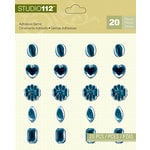 K and Company - Studio 112 Collection - Adhesive Gems - Navy Assortment