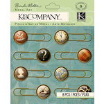 K and Company - Brenda Walton Collection - Metal Art - Scribe - Paper Clips