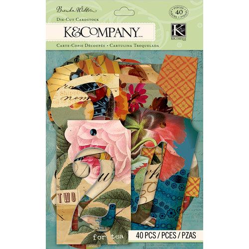 K and Company - Brenda Walton Collection - Die Cut Cardstock Pieces - Scribe