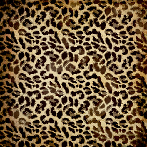 K and Company - Brenda Walton Collection - 12 x 12 Paper with Glitter Accents - Scribe - Leopard