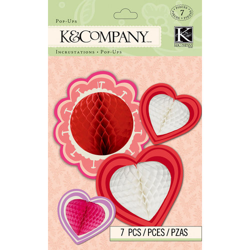 K and Company - Cupid Collection - 3 Dimensional Pop-Ups - Honeycomb