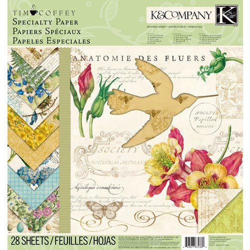 K and Company - Foliage Collection by Tim Coffey - 12 x 12 Specialty Paper Pad