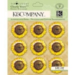 K and Company - Foliage Collection by Tim Coffey - Clearly Yours - Epoxy Stickers - Sunflowers