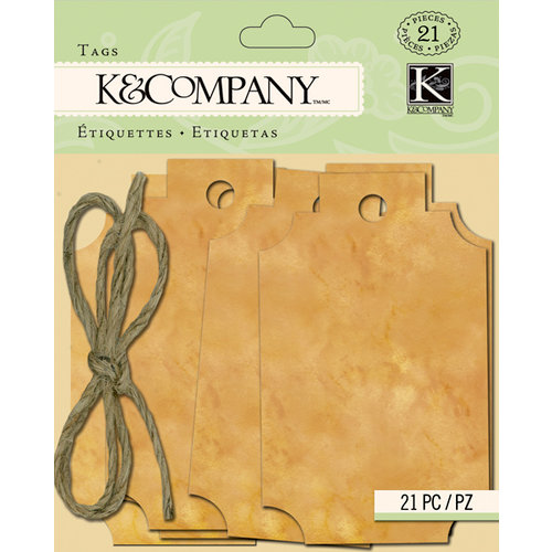 K and Company - Foliage Collection by Tim Coffey - Distressed Brown Tags