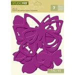 K and Company - Studio 112 Collection - Dazzle Die Cut Pieces - Purple Dazzle Butterfly