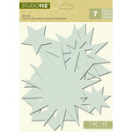 K and Company - Studio 112 Collection - Dazzle Die Cut Pieces - Blue Dazzle Star